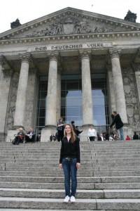 ich vor dem Reichstag